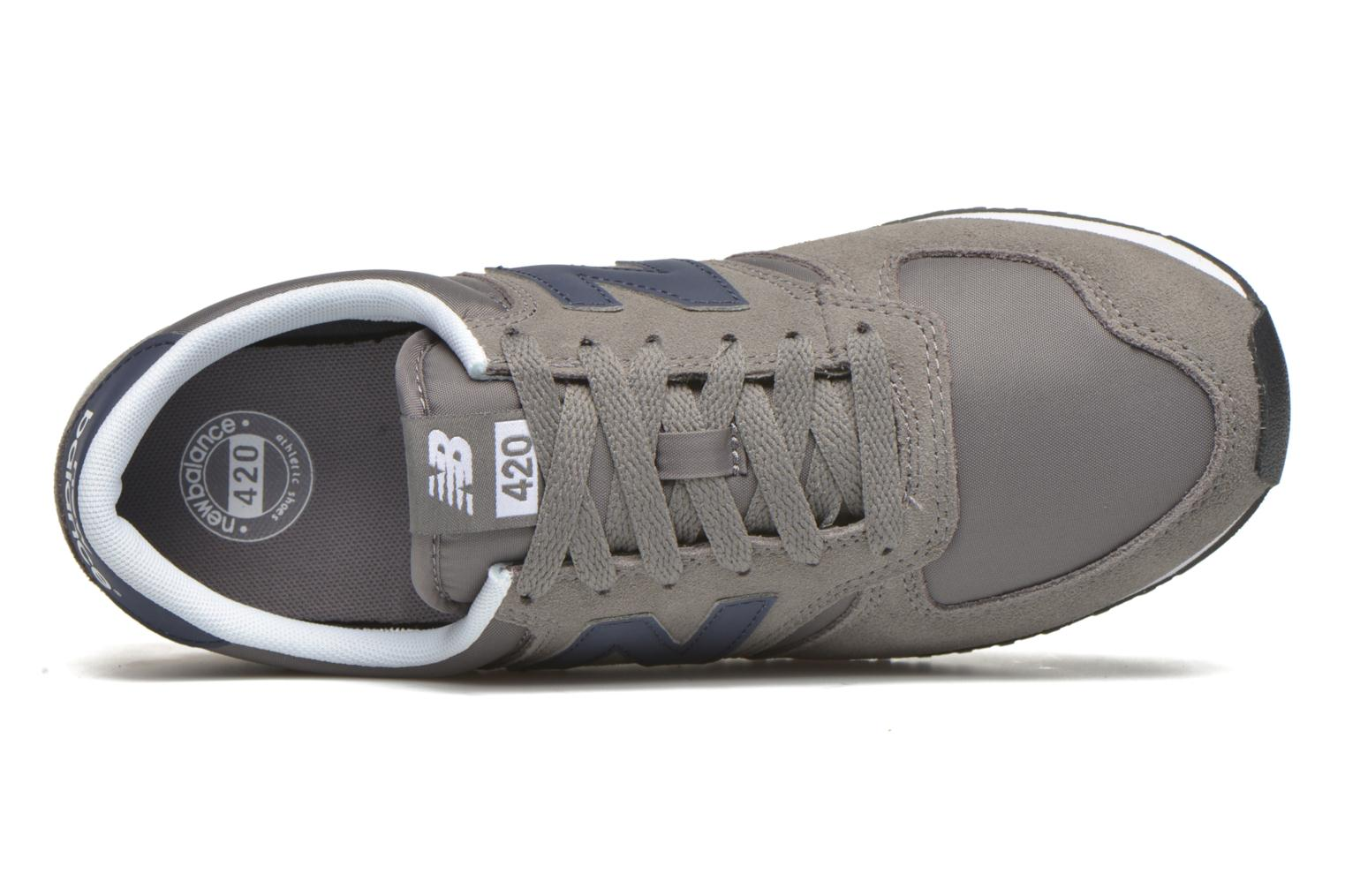 Baskets New Balance U420 Gris vue gauche