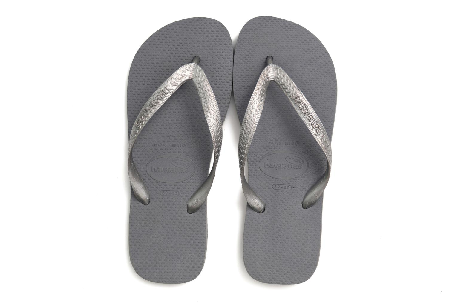 Chanclas Havaianas Top Metallic F Gris vista 3/4