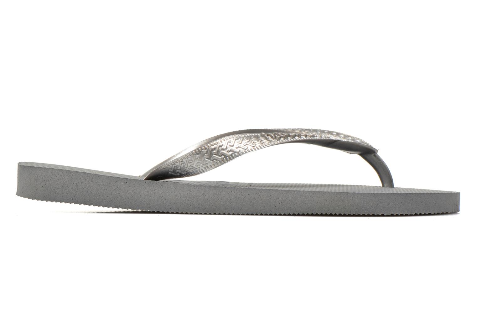 Chanclas Havaianas Top Metallic F Gris vistra trasera