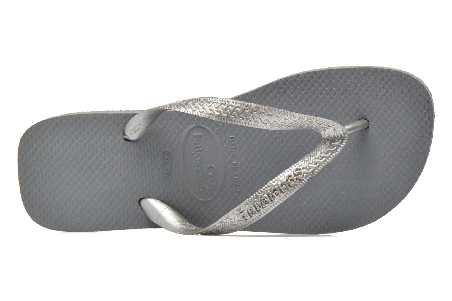 Chanclas Havaianas Top Metallic F Gris vista lateral izquierda