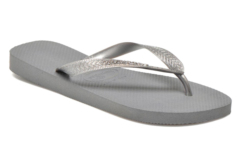 Zehensandalen Havaianas Top Metallic F grau detaillierte ansicht/modell