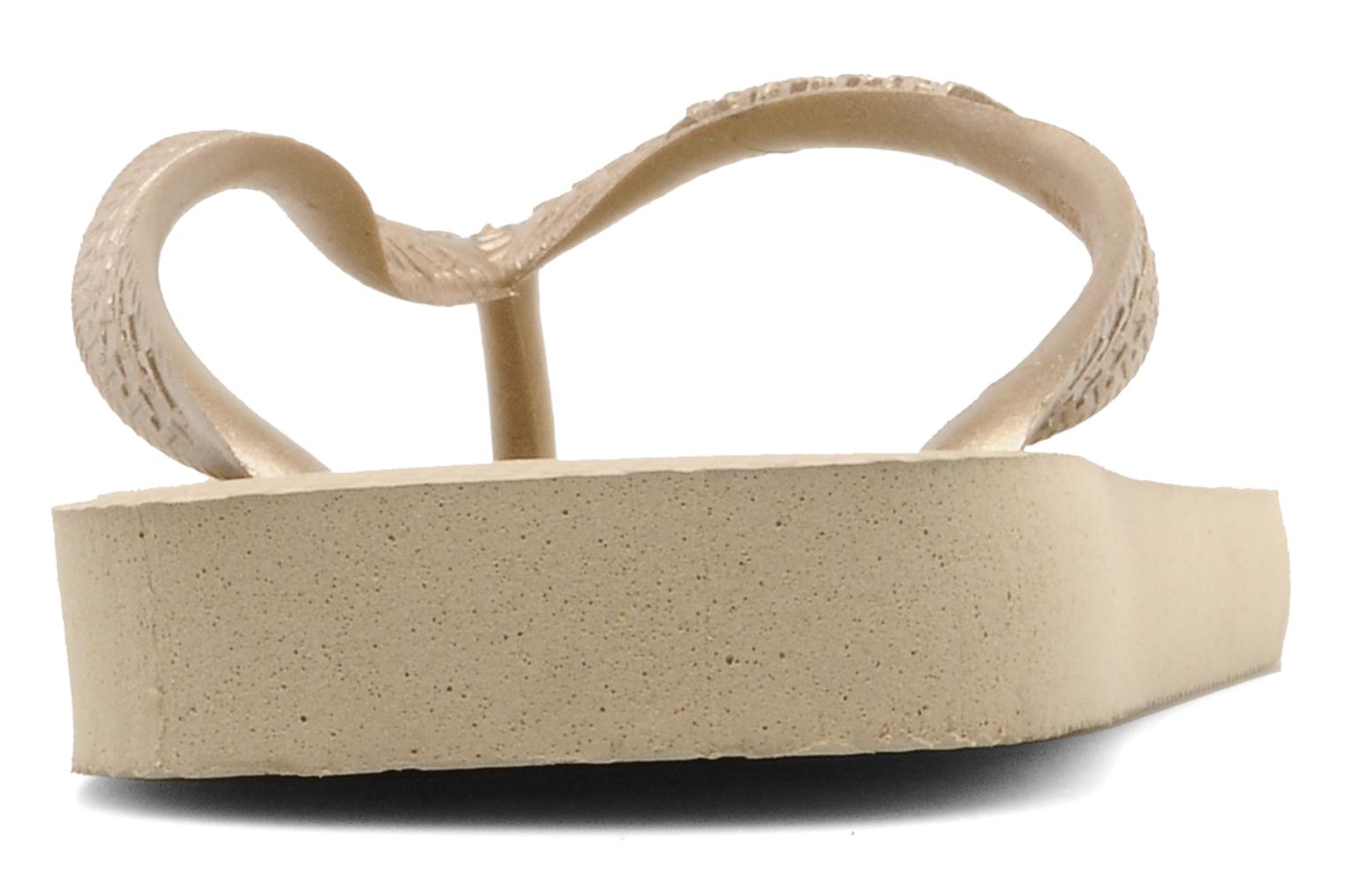 Flip flops Havaianas Top Metallic F Bronze and Gold view from the right