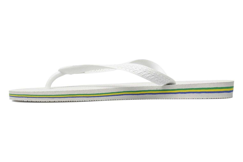 Slippers Havaianas Brasil Logo F Wit voorkant