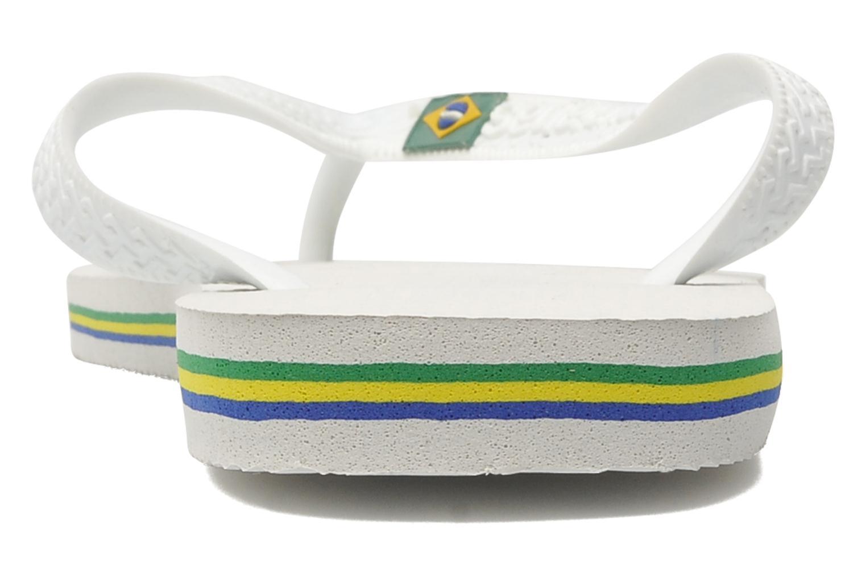 Chanclas Havaianas Brasil Logo F Blanco vista lateral derecha