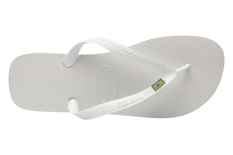 Chanclas Havaianas Brasil Logo F Blanco vista lateral izquierda