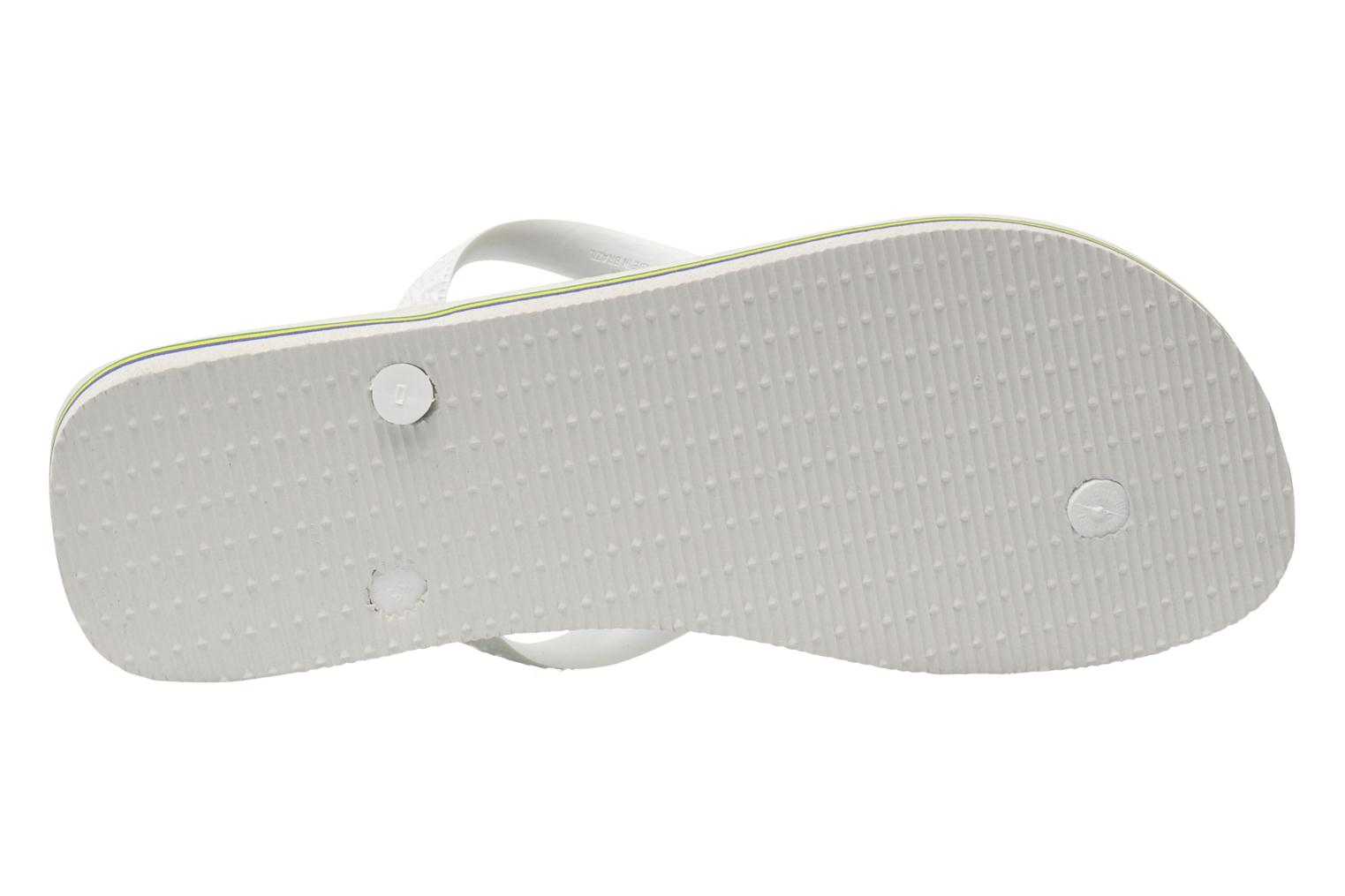 Flip flops Havaianas Brasil Logo F White view from above