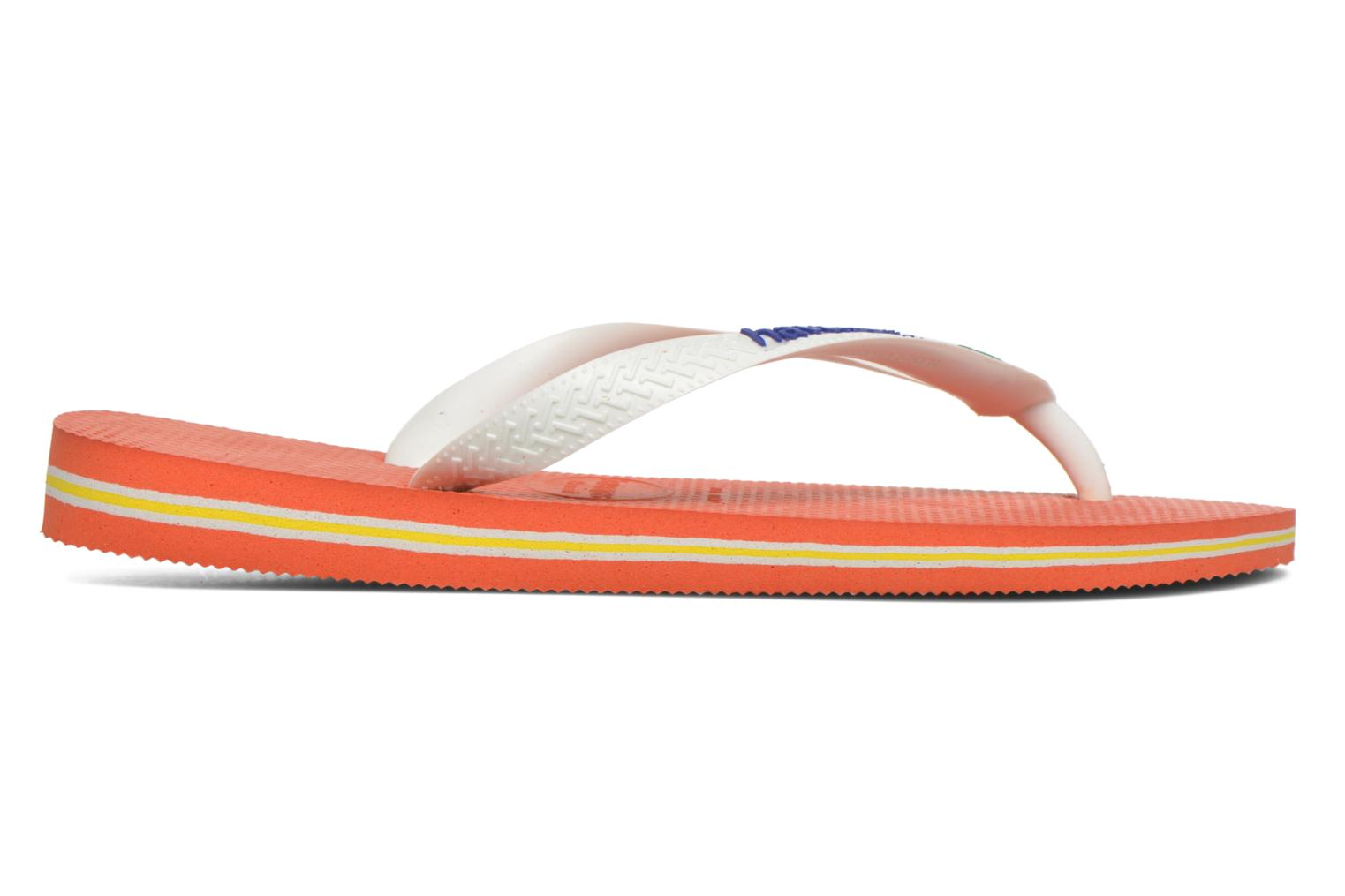 Tongs Havaianas Brasil Logo F Orange vue derrière