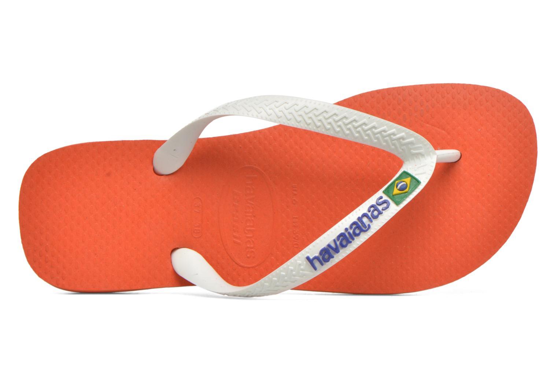 Zehensandalen Havaianas Brasil Logo F orange ansicht von links