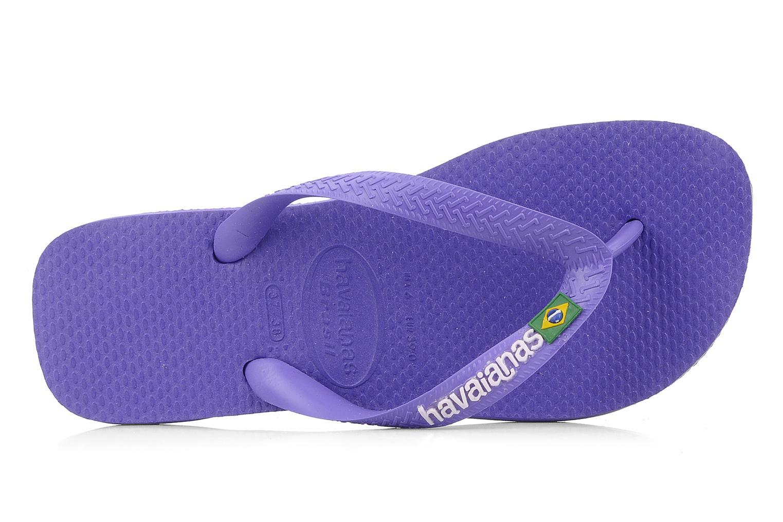 Tongs Havaianas Brasil Logo F Violet vue gauche
