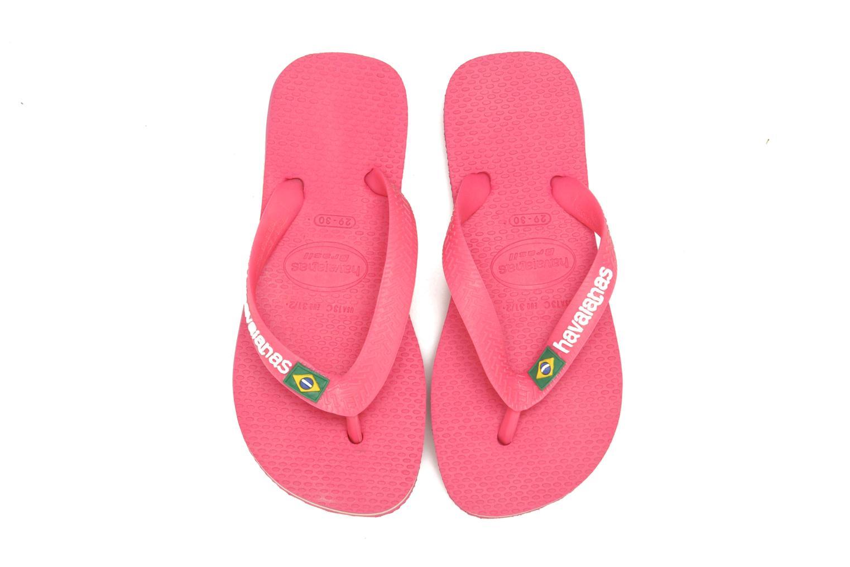 Slippers Havaianas Brasil Logo E Roze 3/4'