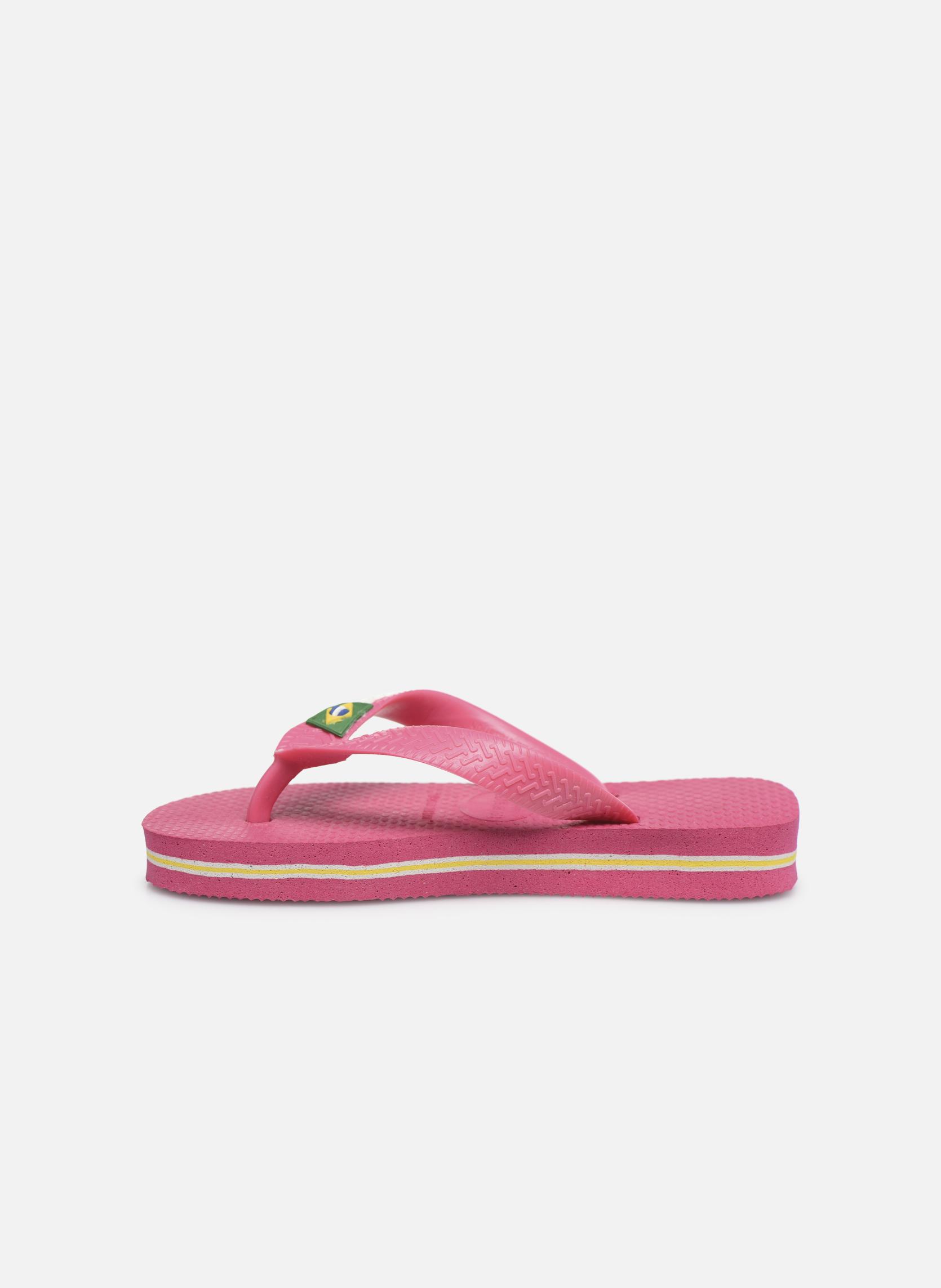Slippers Havaianas Brasil Logo E Roze voorkant