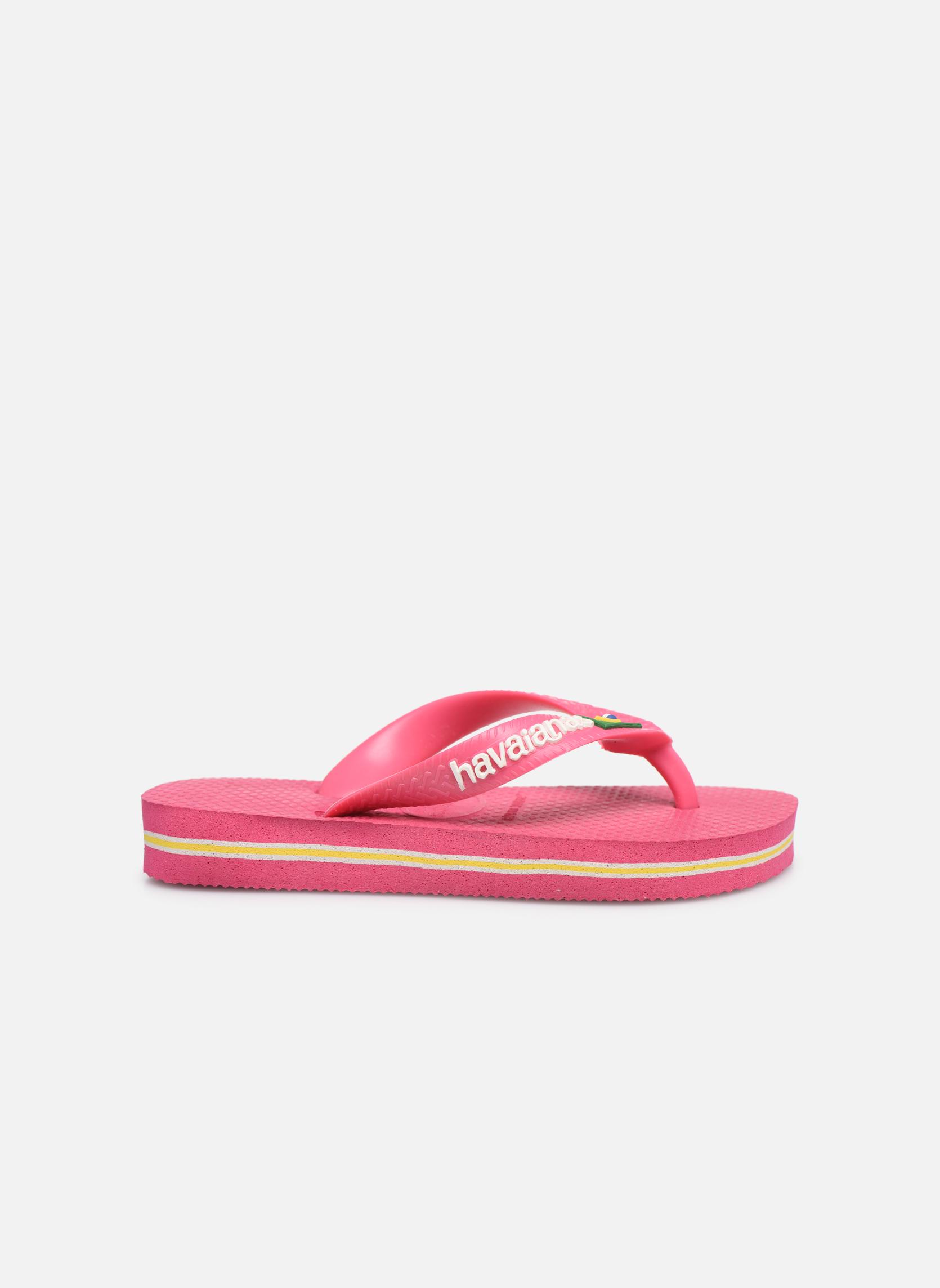 Slippers Havaianas Brasil Logo E Roze achterkant