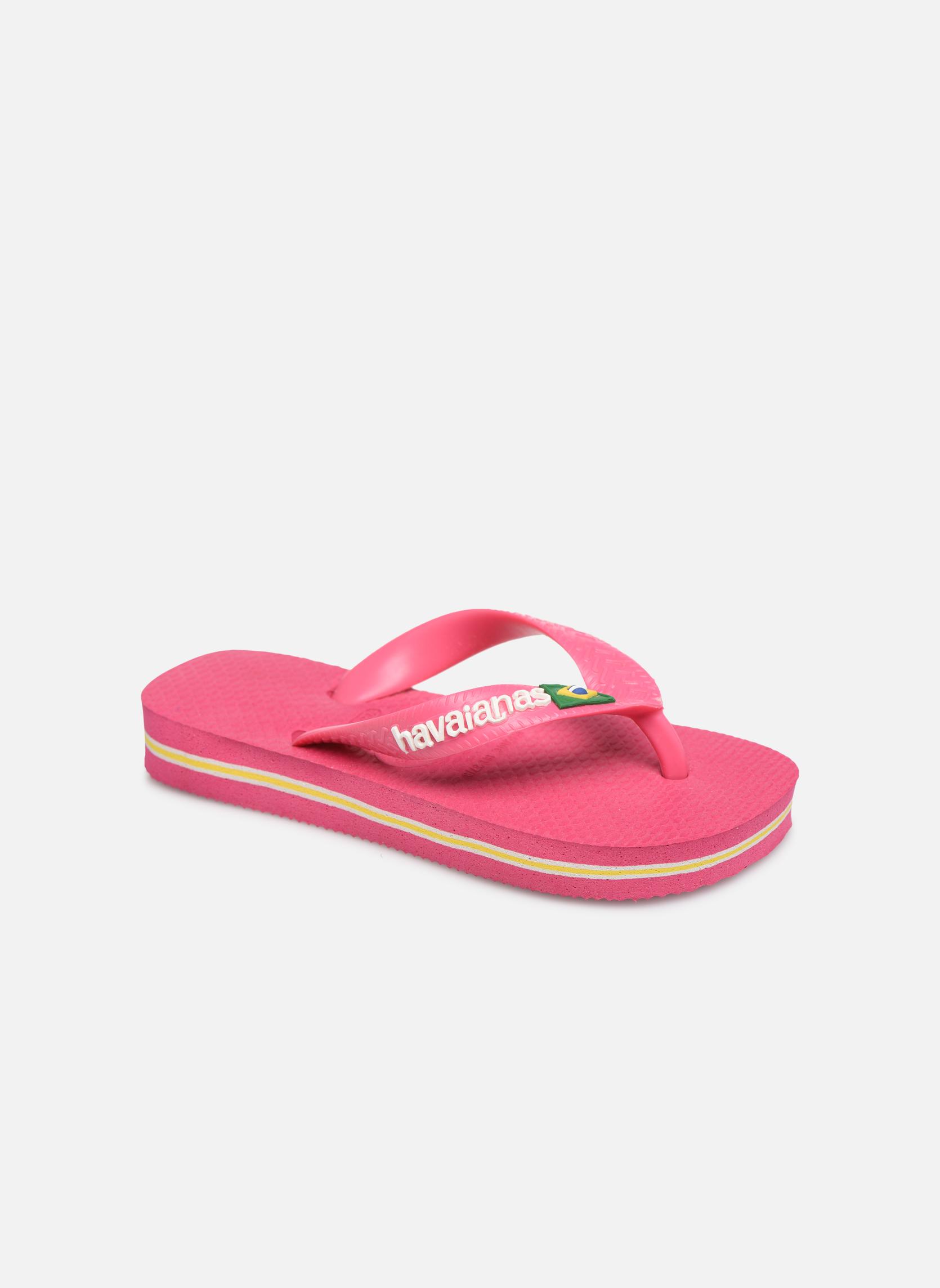 Slippers Havaianas Brasil Logo E Roze detail