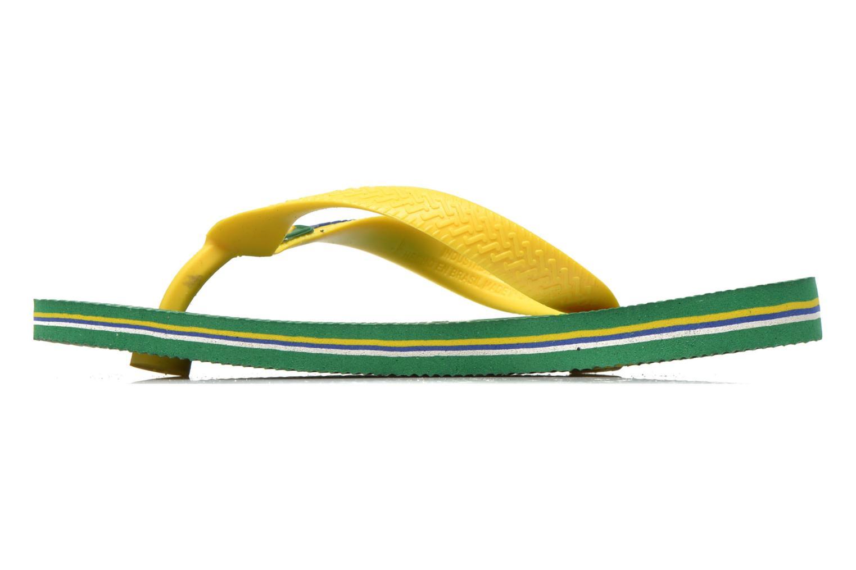 Zehensandalen Havaianas Brasil Logo E grün ansicht von vorne
