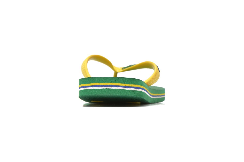 Chanclas Havaianas Brasil Logo E Verde vista lateral derecha