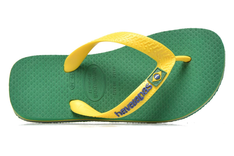 Chanclas Havaianas Brasil Logo E Verde vista lateral izquierda
