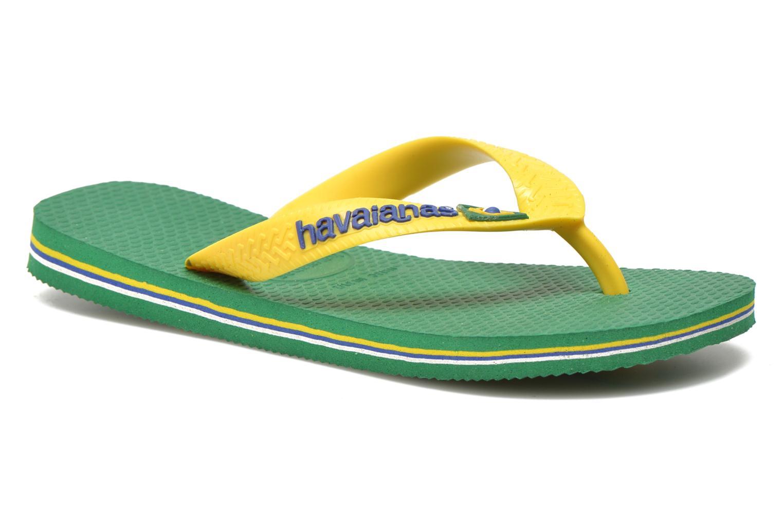 Tongs Havaianas Brasil Logo E Vert vue détail/paire