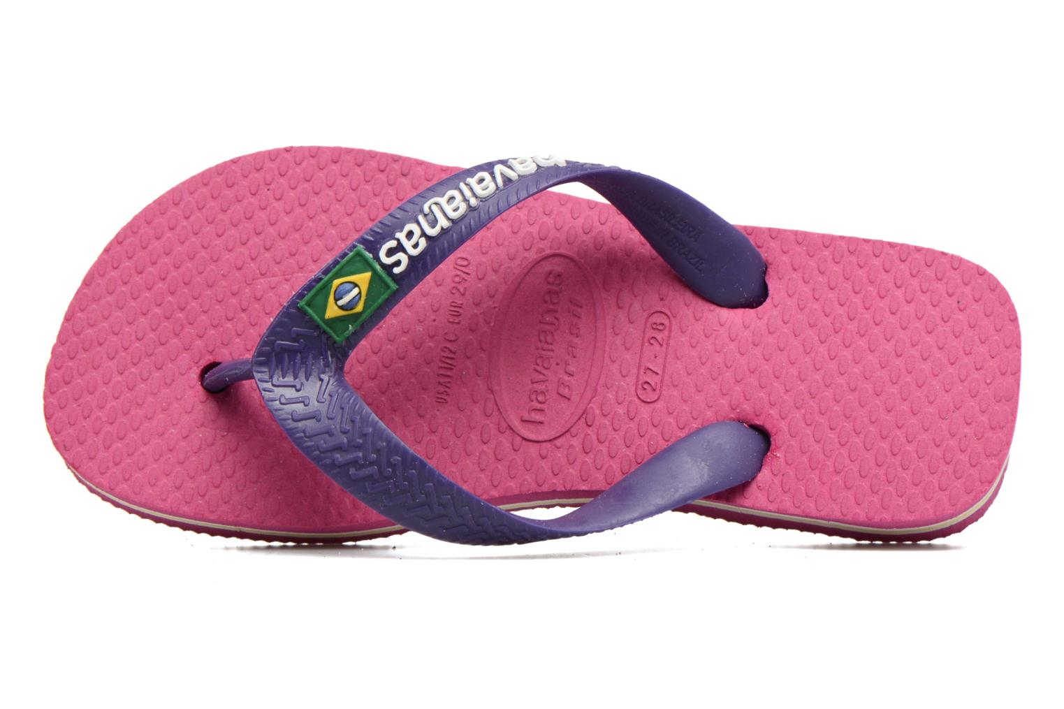 Flip flops Havaianas Brasil Logo E Pink view from the left