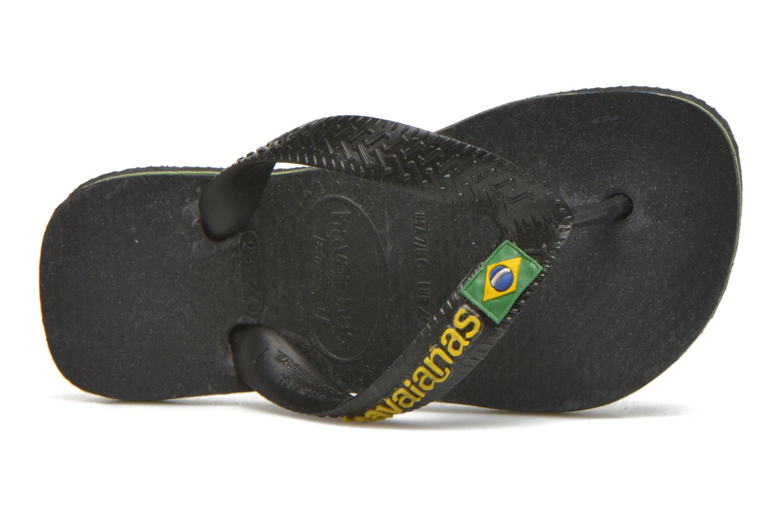 Flip flops Havaianas Brasil Logo E Black view from the left