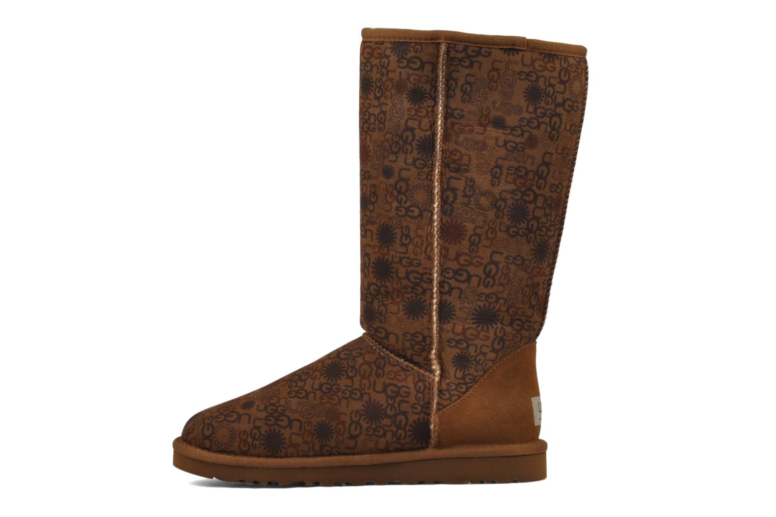 Bottines et boots UGG Classic Tall Logo W Marron vue face