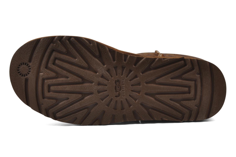 Bottines et boots UGG Classic Tall Logo W Marron vue haut