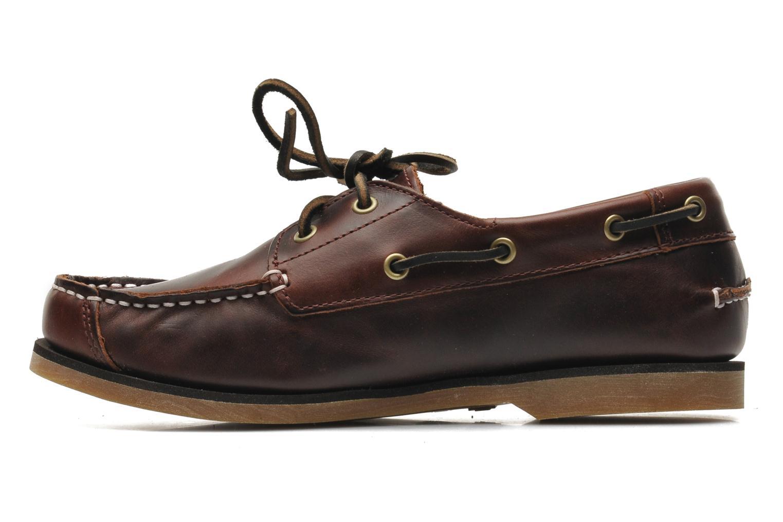 Chaussures à lacets Timberland Boat Shoe Peaks Island E Marron vue face