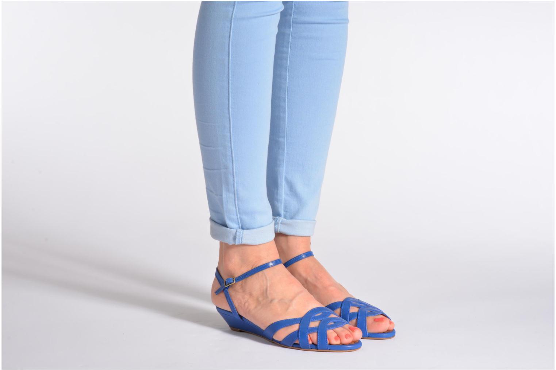 Sandales et nu-pieds Pastelle Cerfeuil Orange vue bas / vue portée sac