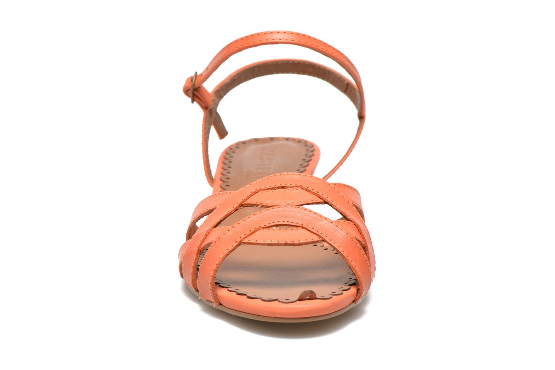 Sandales et nu-pieds Pastelle Cerfeuil Orange vue portées chaussures