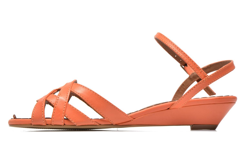Sandales et nu-pieds Pastelle Cerfeuil Orange vue face