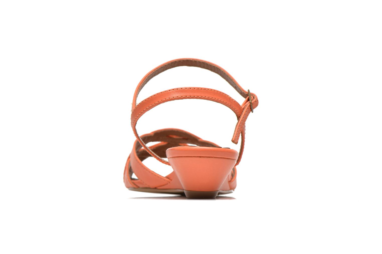Sandales et nu-pieds Pastelle Cerfeuil Orange vue droite