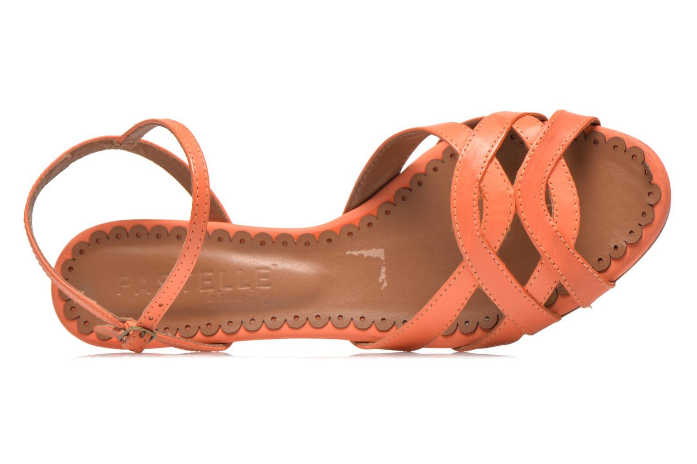 Sandalias Pastelle Cerfeuil Naranja vista lateral izquierda