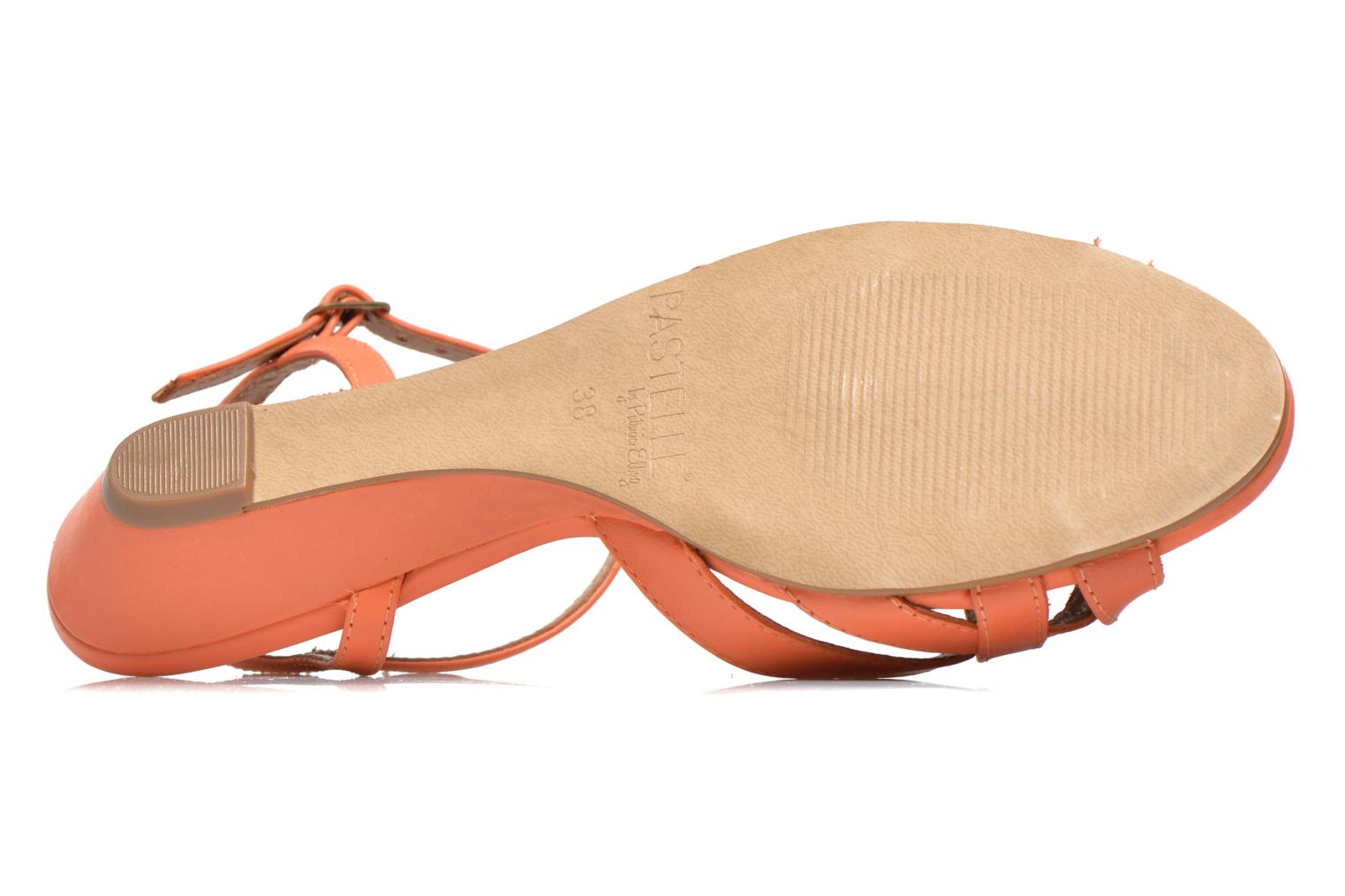 Sandals Pastelle Cerfeuil Orange view from above