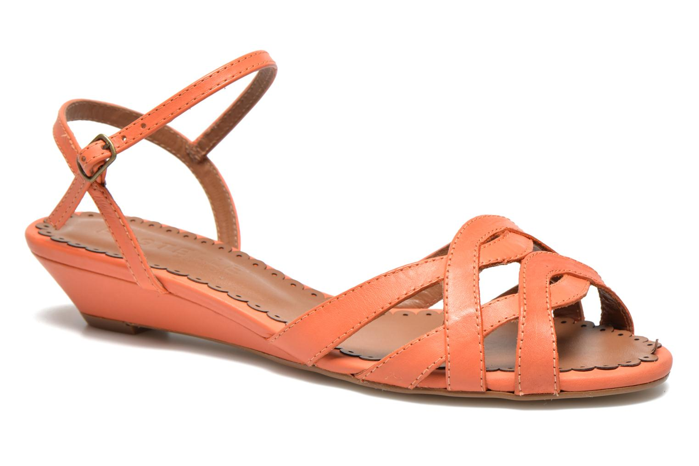 Sandales et nu-pieds Pastelle Cerfeuil Orange vue détail/paire