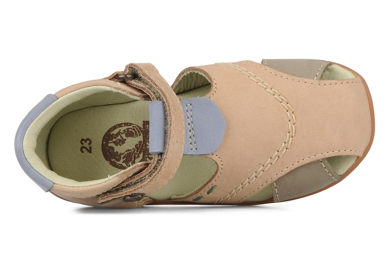 Sandales et nu-pieds Kickers Banzai Beige vue gauche