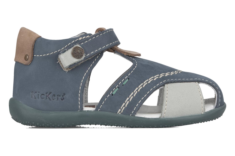 Sandales et nu-pieds Kickers Banzai Bleu vue derrière