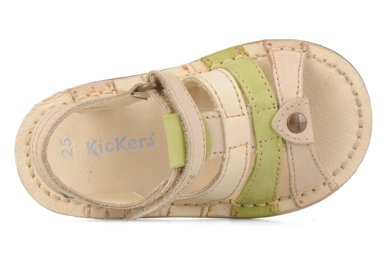 Sandales et nu-pieds Kickers Woops Beige vue gauche