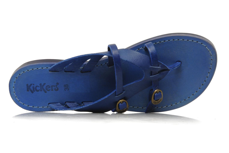 Sandalen Kickers Dilight blau ansicht von links