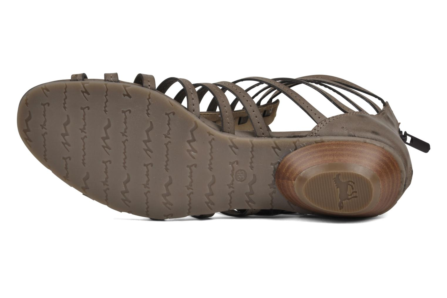 Sandals Mustang shoes Runy Beige view from above