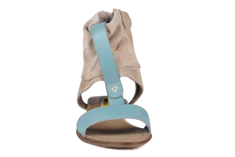 Sandales et nu-pieds Manas Lavori Gris vue portées chaussures