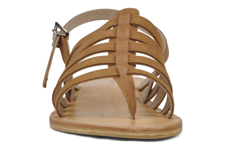 Sandales et nu-pieds Les Tropéziennes par M Belarbi Hook Marron vue portées chaussures
