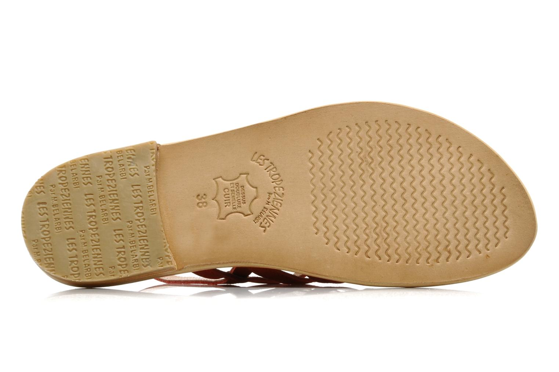 Sandales et nu-pieds Les Tropéziennes par M Belarbi Hook Rouge vue haut