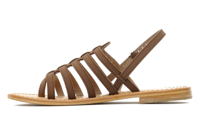 Sandals Les Tropéziennes par M Belarbi Hook Brown front view