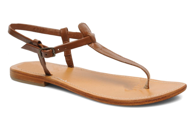 Sandals Les Tropéziennes par M Belarbi Narvil Brown detailed view/ Pair view