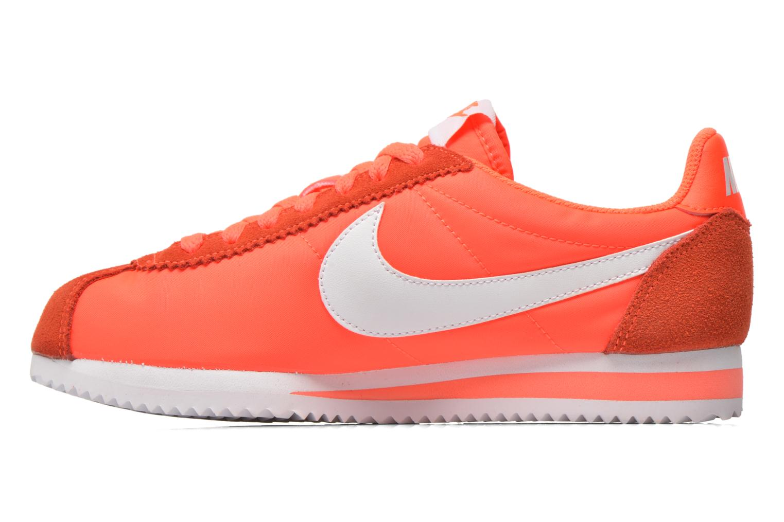 Baskets Nike Wmns Classic Cortez Nylon Orange vue face