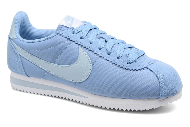 Baskets Nike Wmns Classic Cortez Nylon Bleu vue détail/paire