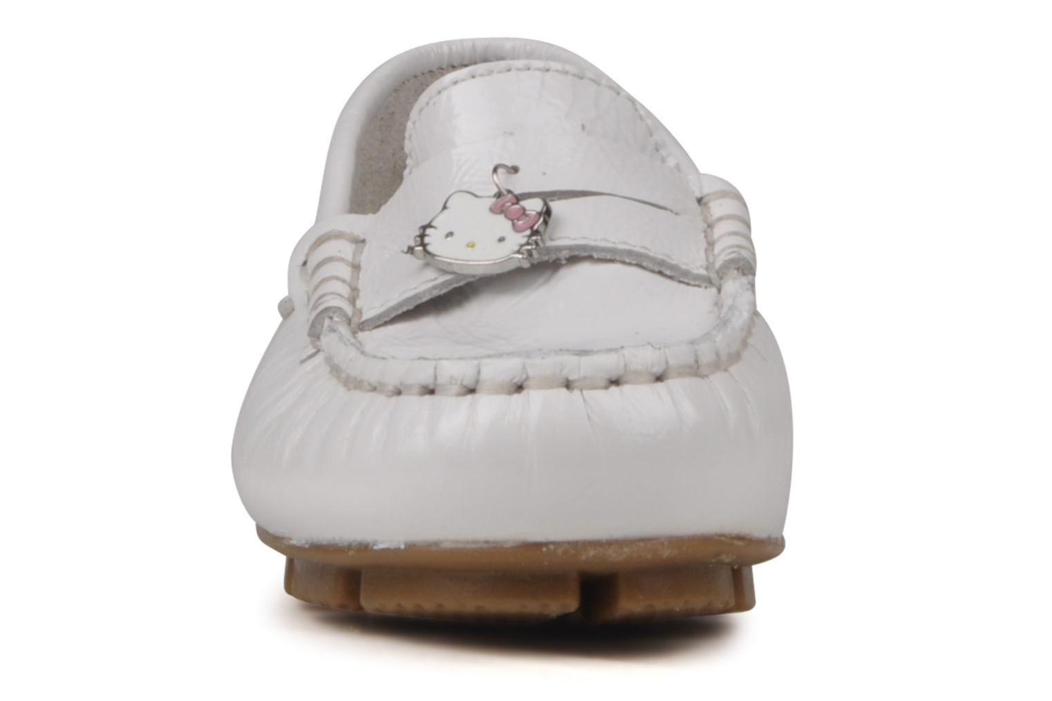 Mocasines Hello Kitty Kimoc Blanco vista del modelo