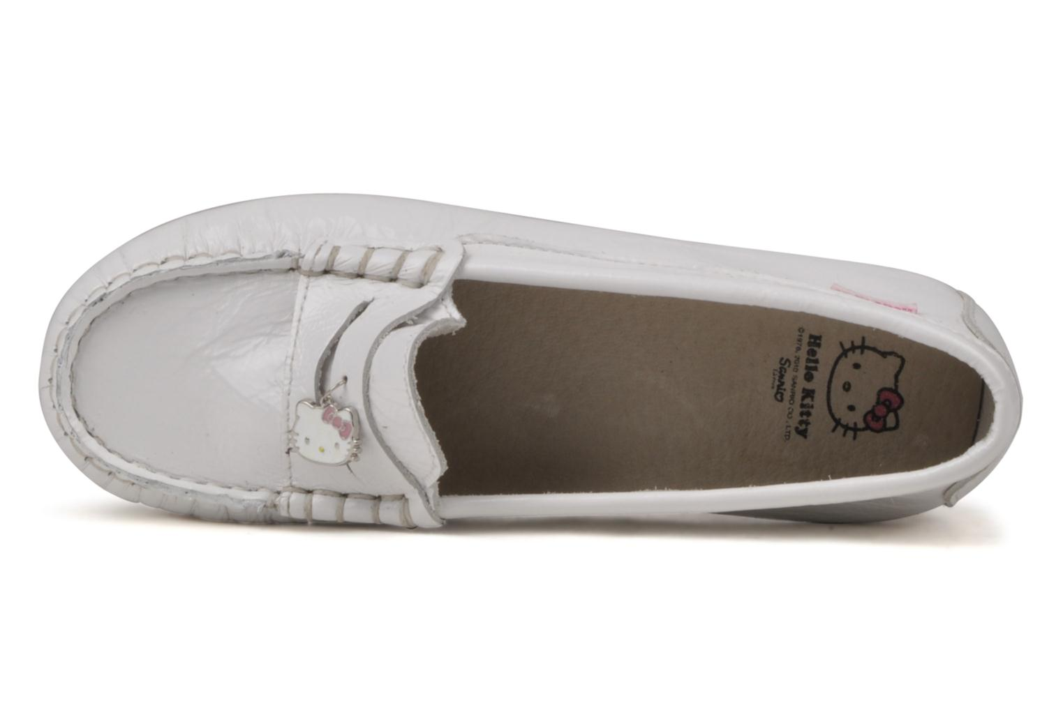Mocassins Hello Kitty Kimoc Blanc vue gauche