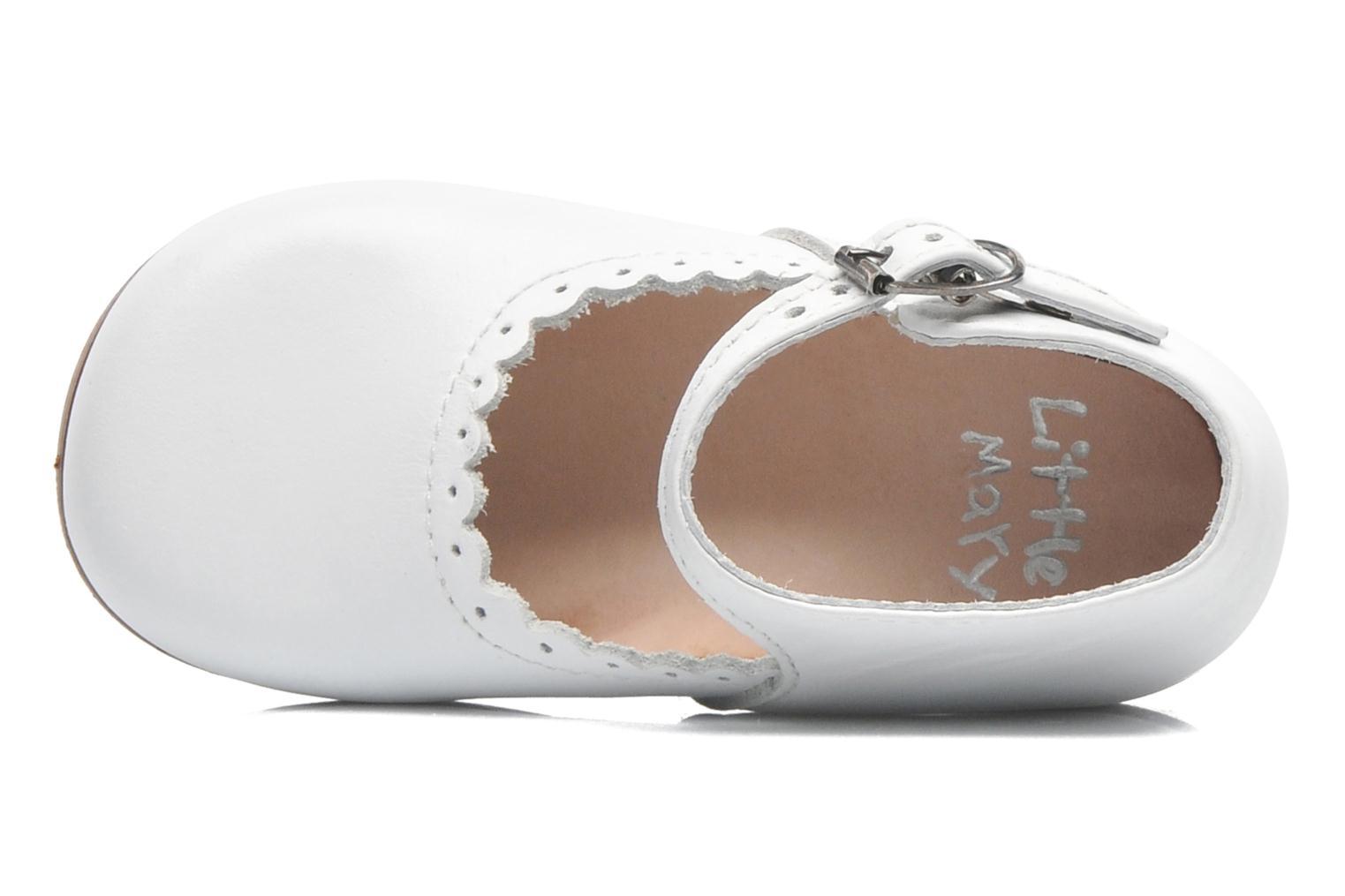 Ballerines Little Mary Vocalise Blanc vue gauche