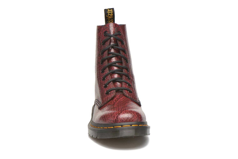 Bottines et boots Dr. Martens Pascal W Bordeaux vue portées chaussures