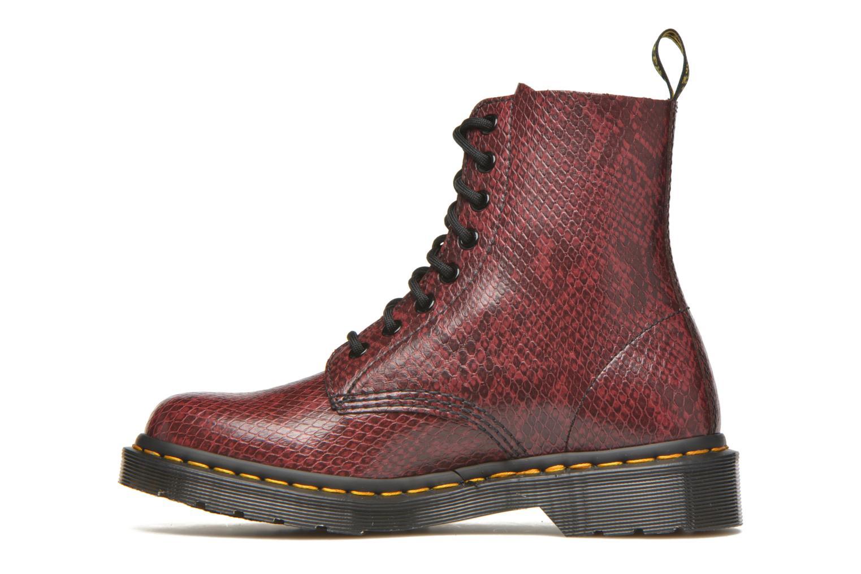 Bottines et boots Dr. Martens Pascal W Bordeaux vue face